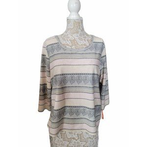 [Hearts Of Palm] Stripped Top XL NWT